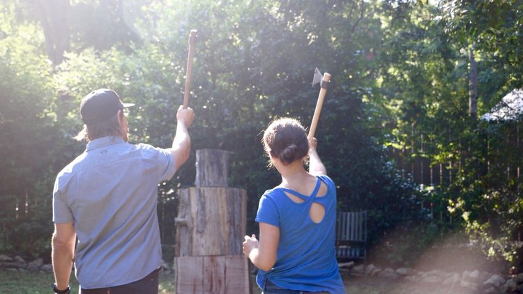 This Company Installed a Custom Tomahawk Throwing Target to Spice up Boring Meetings